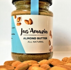 Almond Butter All Natural 125 Gms- Jus Amazin