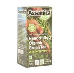Organic Green Tea with Lemon Grass 50 Gms - Assamica