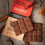 Chilli & Cinnamon Dark Chocolate 70 Gms-Mason