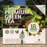 Premium Green Tea Bags 50 Bags-18 Herbs