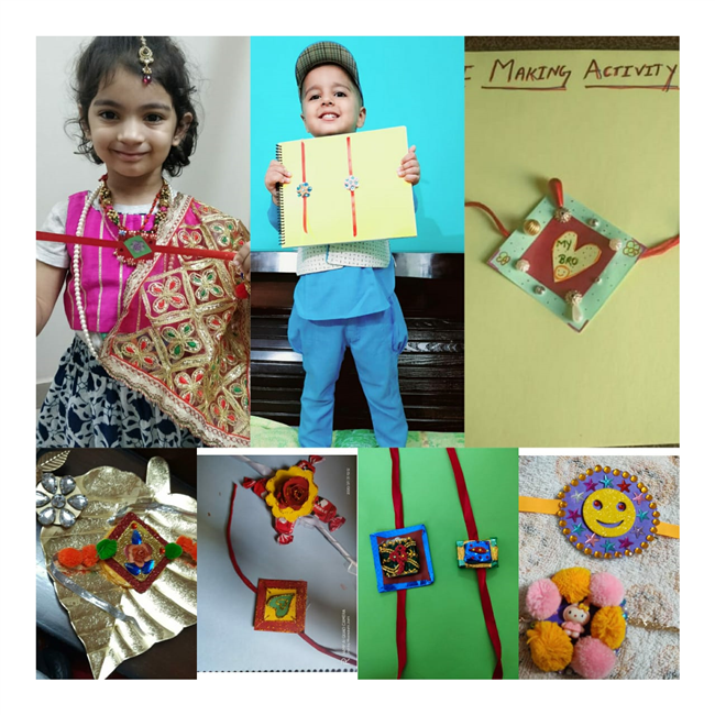 Pre School (Nur) Rakhi Making Activity