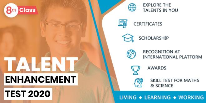Talent Enhancement Skill Test -Class 8th