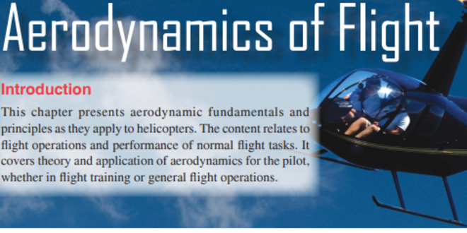 Introduction to Helicopter Aerodynamics and Dynamics