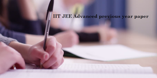 IIT JEE Advanced previous year paper