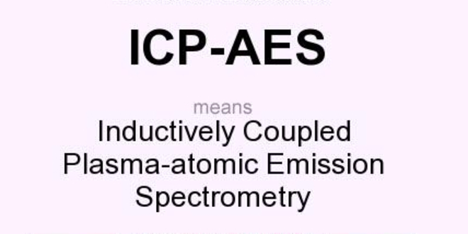 NOC:Inductive Couple Plasma Atomic Emmission Spectrometry ( ICP-AES) for Pollution Monitering