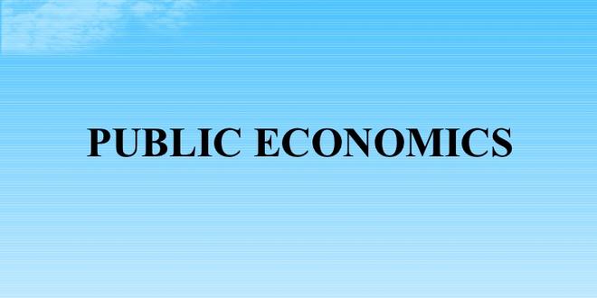 Public Economics (PDF)