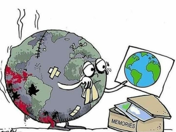 Reality of these days.<br>Global warming.<br>Earthqua...