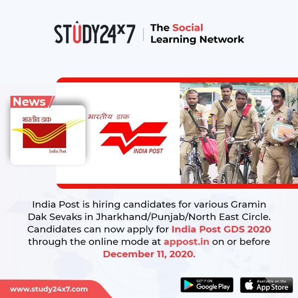India Post is hiring candidates for various Gramin Da...