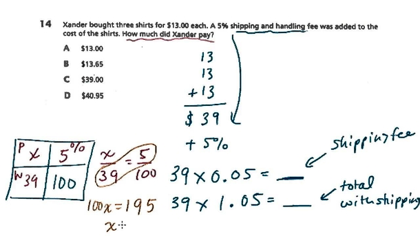 7th Grade Math with solution