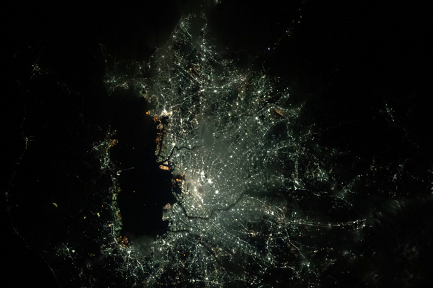 Stunning: The bright lights of Tokyo, Japan as seen f...