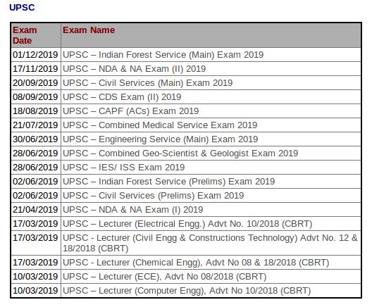 #UPSC #Exam Dates