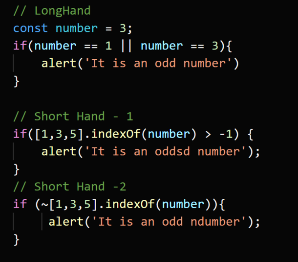 Short Hand Techniques for Javascript Developers<br>5....