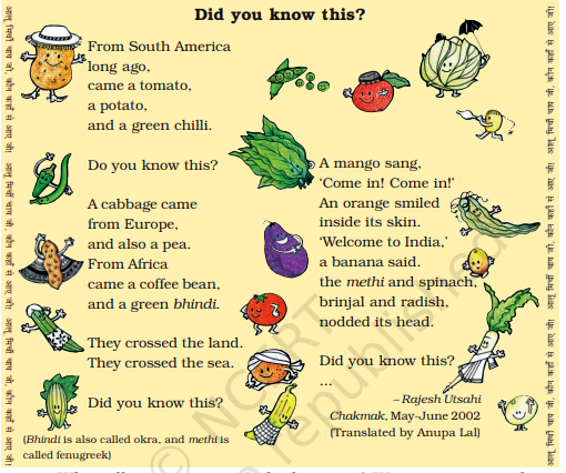 Read this poem to know which plant came from where <b...