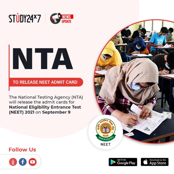 NEET 2021 Update!  The National Testing Agency (NTA) ...