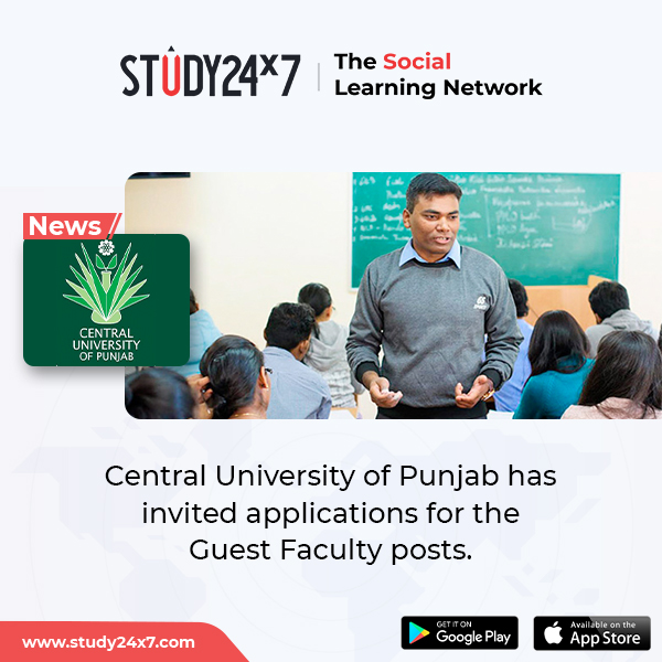 Central University of Punjab has invited applications...