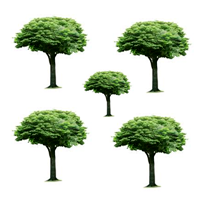 There are _____trees .