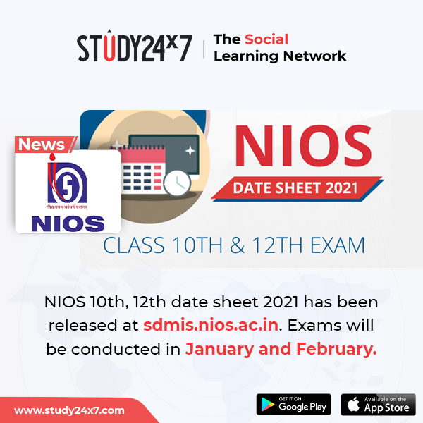 NIOS 10th, 12th date sheet 2021 has been released at ...