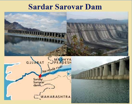 Sardar Sarovar Dam foundation stone was laid by then ...