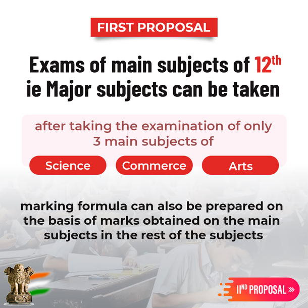 First Proposal  The main subjects of 12th ie Major su...