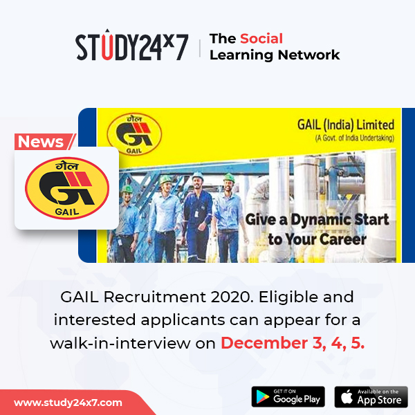 GAIL (India) Limited has invited applications for rec...