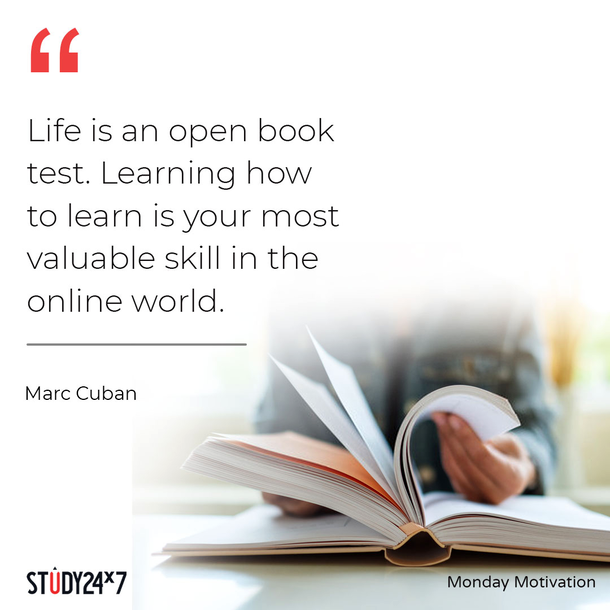 Monday Motivation! Life is an open book test. Learnin...