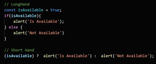 Short Hand Techniques for Javascript Developers<br>1....