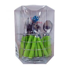 24 Pc Cutlery Set [Round Box]