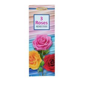 Maharani 3 Roses Incense 20 Sticks x 6pack