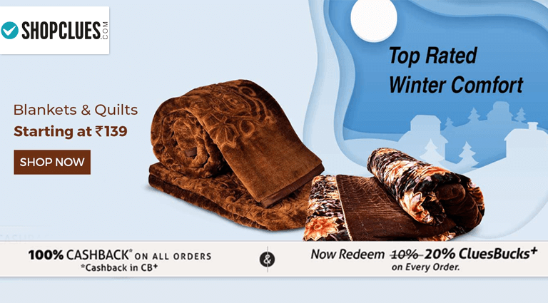 shopclues blankets quilts