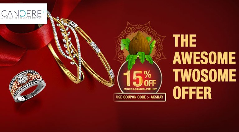 b33a32be15783 Candere - Akshay Tritiya Collection 15% OFF Offers