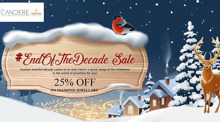 candere end of the decade sale