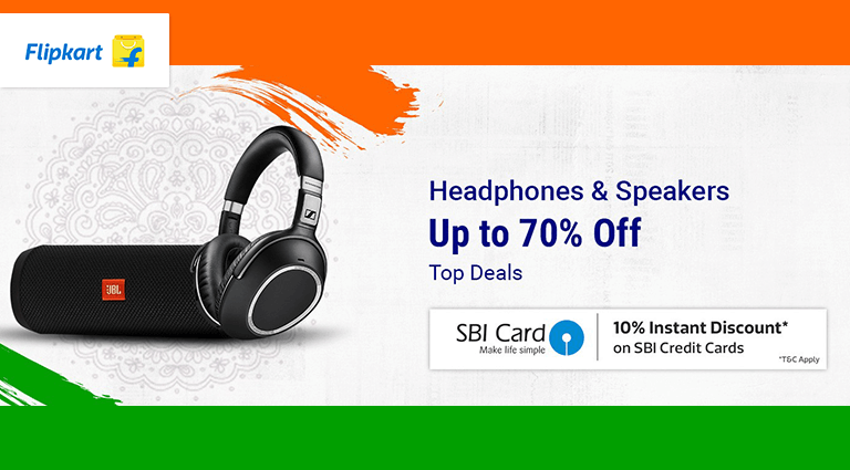 flipkart headphone and speakers deals