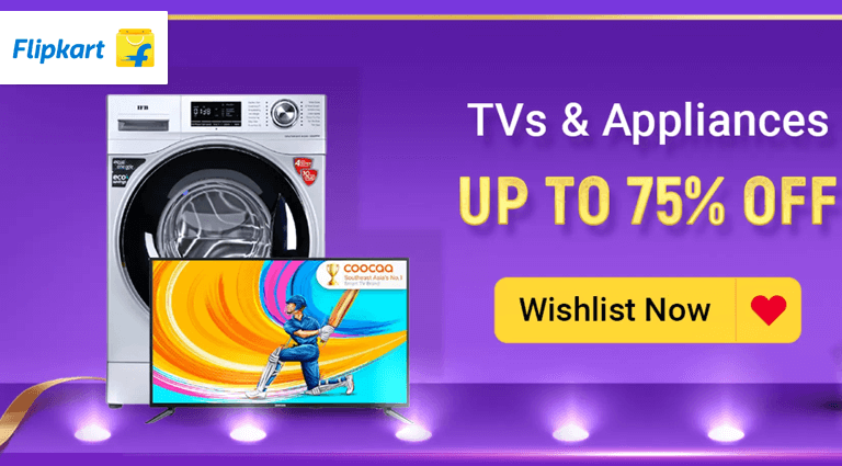 flipkart tvs appliances