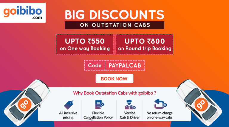 goibibo big discounts on outside cabs