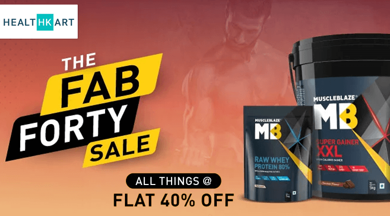 Healthkart The Fab Forty Sale