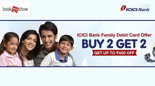 book-my-show-icici-bank-family-debit-card-offer
