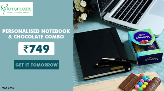 fernsnpetals-personalised-notebook-chocolate-combo