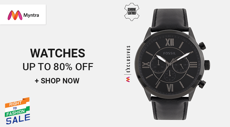 myntra best watch collection