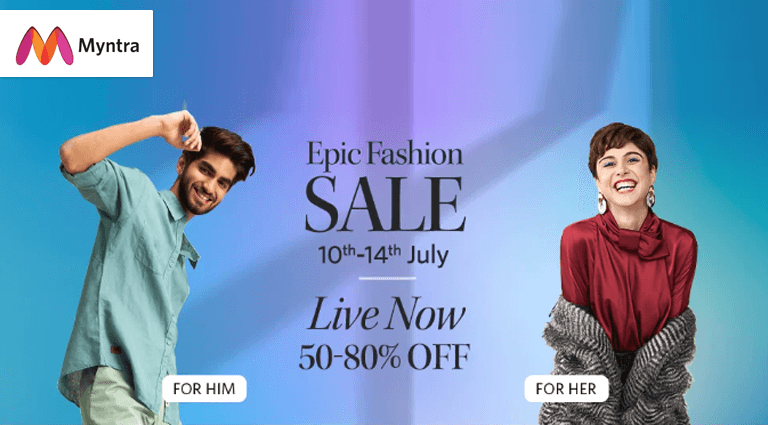 myntra epic fashion sale