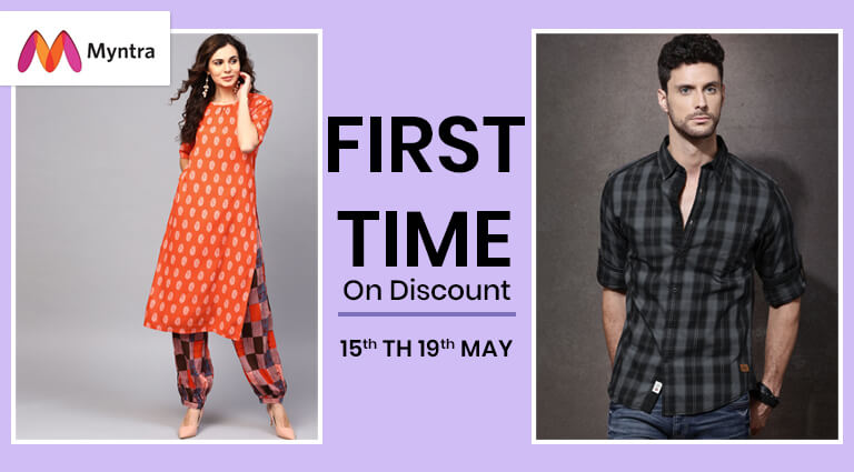myntra first time on discount