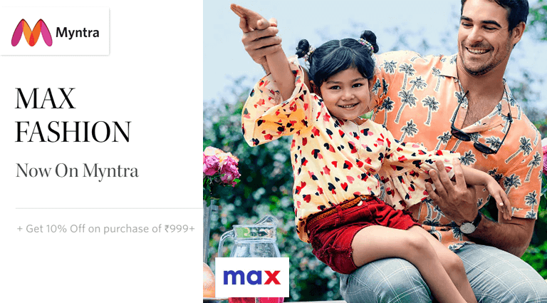 myntra max fashion