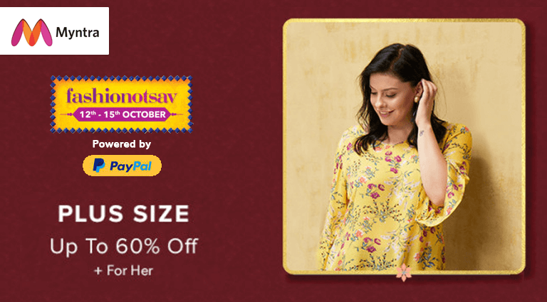 myntra plus size collection