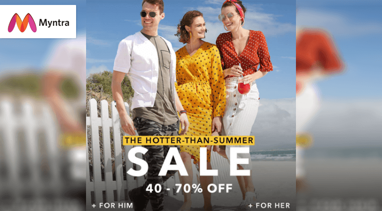 myntra the hotter then summer sale