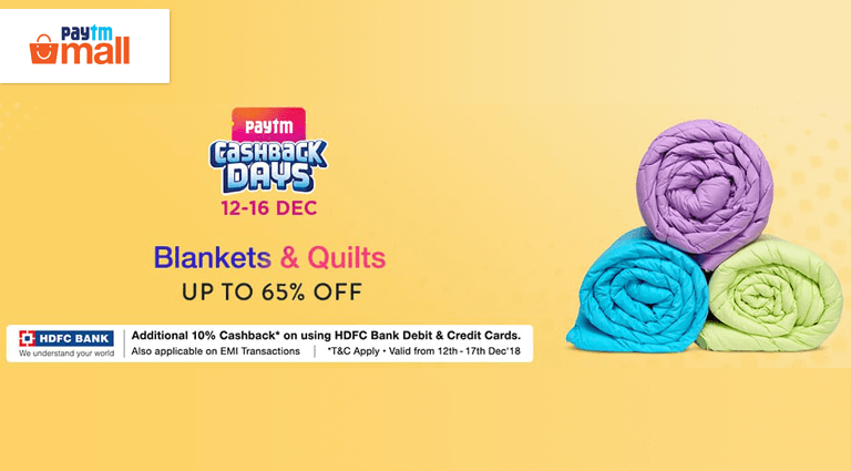 paytm mall blankets and quilts deals