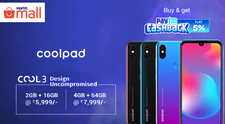 paytm mall coolpad smartphone