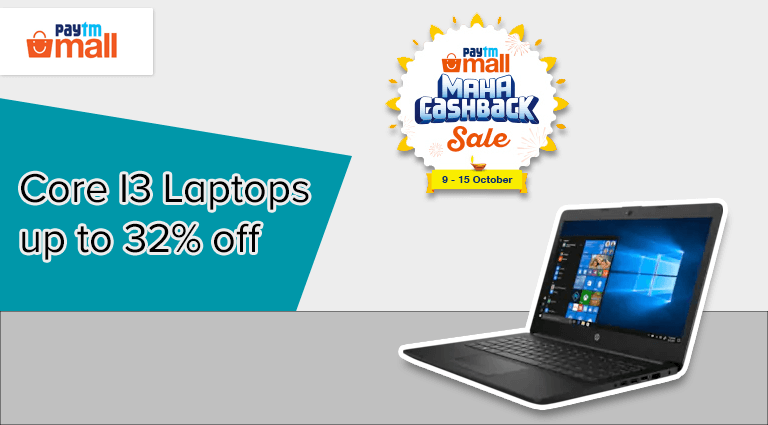 paytm mall core i3 laptops