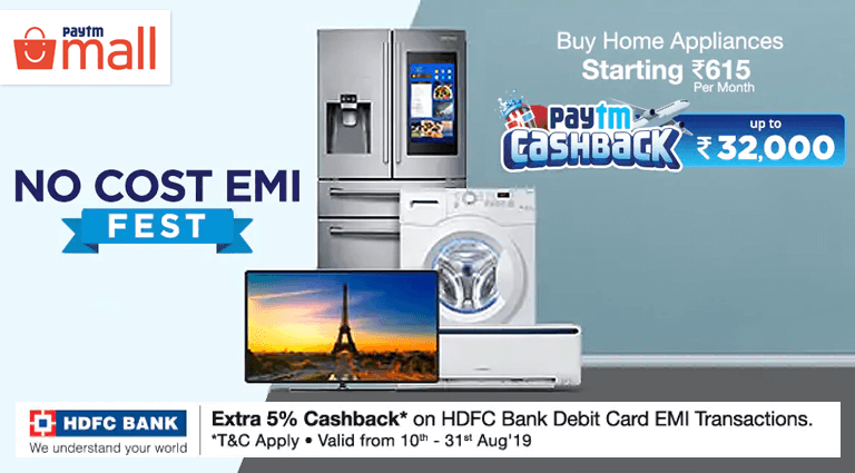 paytm mall home appliances sale