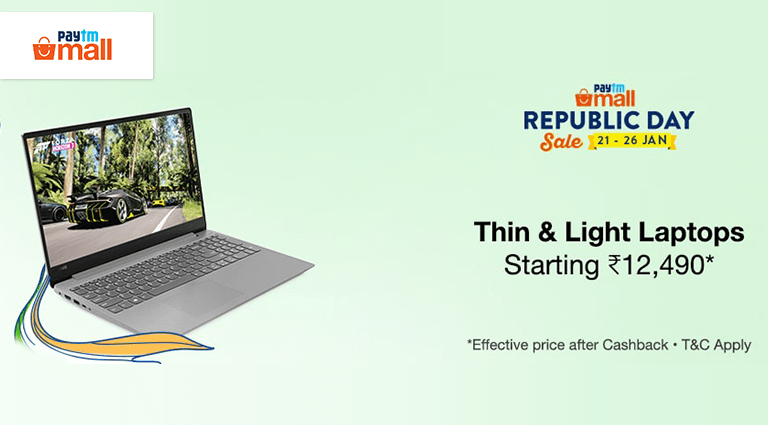 paytm mall thin and light laptop