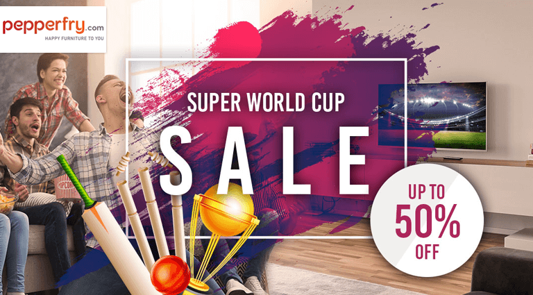 pepperfry super world cup sale