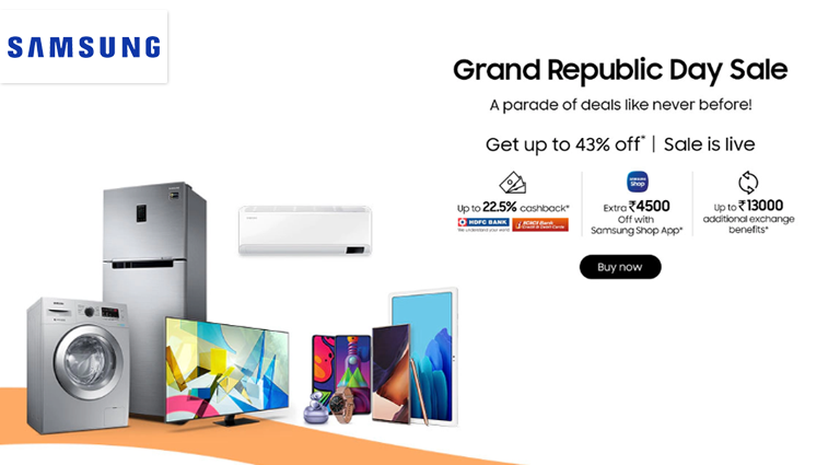samsung grand republic day sale